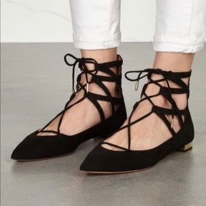 Aquazzura suede flats shoes